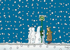 Cartoon: Too late? (small) by fussel tagged bus,wait,delay,snow,verspätung,schnee,mistwetter