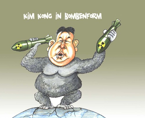 Cartoon: Kim Kong (medium) by Bert Kohl tagged aggressiv,diktatorisch,profilneurotisch