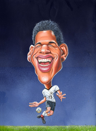 Cartoon: Michael Ballack (medium) by Bert Kohl tagged balle