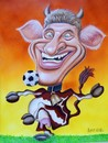 Cartoon: Thomas Müller (small) by Bert Kohl tagged fussballkuh