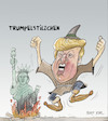 Cartoon: Trumpelstilzchen (small) by Bert Kohl tagged kotzbrocken,verbalrambo