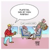 Cartoon: Bahn-Rowdy Pofalla (small) by Timo Essner tagged deutsche,bahn,ronald,pofalla,pofallabeendetdinge,pofallabeendetdiebahn,bahnvorstand,manager,management,kahlschlag,rowdy,cartoon,timo,essner