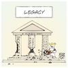 Cartoon: Legacy (small) by Timo Essner tagged usa donald trump maga legacy right wing alt kkk proud boys nazism racism pillars state justice society cartoon timo essner
