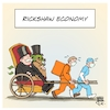 Cartoon: Rickshaw Economy (small) by Timo Essner tagged covid19,corona,wirtschaft,economy,niedriglöhne,billiglöhner,low,wage,jobs,rickshaw,lieferservice,delivery,service,pflegeberufe,social,care,cartoon,timo,essner