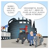 Cartoon: Sperrklausel EU-Parlament (small) by Timo Essner tagged sperrklausel,europa,ep,europäisches,parlament,volksparteien,kleinstparteien,demokratie,prozenthürde,zugangsbeschränkung,wahlen,europawahlen,cartoon,timo,essner