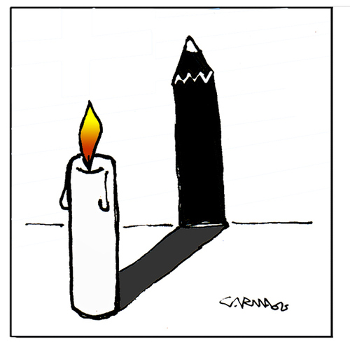 Cartoon: Never Forget (medium) by Carma tagged memorial,day,shoah,cartoonist,charlie,hebdo,war,conflicts,modern,freedom,deportation