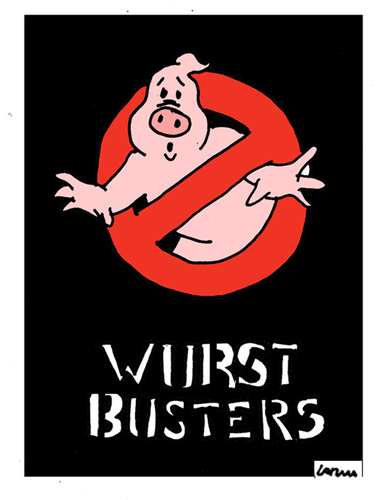 Cartoon: WurstBusters (medium) by Carma tagged ghostbusters,meat,wurstel