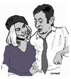 Cartoon: Bonnie and Clyde (small) by Carma tagged cinema celebrities movies bonnie and clydebrigitte bardot gainsbourg