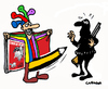 Cartoon: CharlieHebdo Returns (small) by Carma tagged charlie hebdo terrorism cartoonist