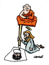 Cartoon: Floating Monk (small) by Carma tagged religion,charlie,hebdo