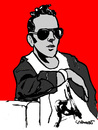 Cartoon: Joe Strummer (small) by Carma tagged music joe strummer rock the clash