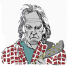 Cartoon: Neil Young (small) by Carma tagged neil young music rock celebrities musicians