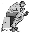 Cartoon: The Selfier (small) by Carma tagged rodin,selfie,tech