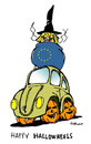 Cartoon: Wheels (small) by Carma tagged halloween,volkswagen,merkel,eu
