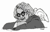 Cartoon: Wim Wenders (small) by Carma tagged wim,wenders,movies,film,maker