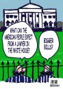 Cartoon: Lawyer President in White House (small) by Paul Brennan tagged obama,lawyer,elected