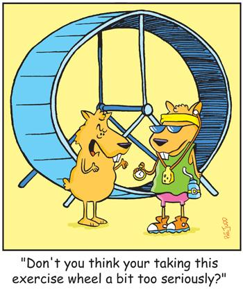 Cartoon: TP0098hamsterpets (medium) by comicexpress tagged hamster,guinea,pig,pet,pets,personal,training,fitness,health,spinning,wheel,exercise,ipod