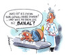 Cartoon: Banal (small) by Hoevelercomics tagged banana,banane,bananen,urologe,urologie,doktor,doctor