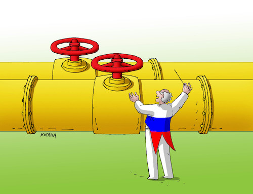 Cartoon: plyndiri (medium) by kotrha tagged gas,nord,stream,putin,trump,russia,usa,germany,sanctions