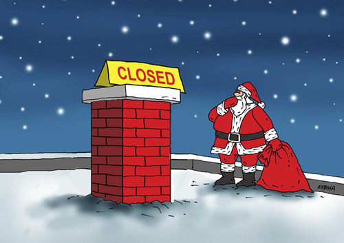 Cartoon: santaclosed (medium) by kotrha tagged christmas,santa