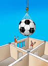 Cartoon: futlopta (small) by kotrha tagged eu,championships,france,football,soccer