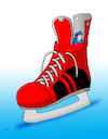 Cartoon: hokskrysa (small) by kotrha tagged ice,hockey,winter,championships,canada