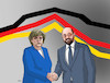 Cartoon: merkelgraf (small) by kotrha tagged angela,merkel,versusu,martin,schulz,germany,elections,tv,europe