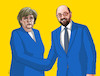 Cartoon: merkelhands (small) by kotrha tagged germany,angela,merkel,martin,schulz,wahlen,elections,euro,dollar,europe,world