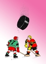 Cartoon: zhora (small) by kotrha tagged ice,hockey