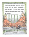 Cartoon: Jail time wisdom (small) by armadillo tagged convicts,jail,talk,philosophy
