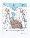 Cartoon: misunderstanding (small) by armadillo tagged heaven,angels,clouds,sky,turd