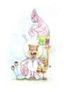 Cartoon: Teamwork (small) by Trippy Toons tagged spongebob,sponge,bob,squarepants,schwammkopf,eyes,augen,bloodshot,cannabis,marihuana,marijuana,stoner,stoned,kiffer,kiffen,weed,ganja,smoke,smoking,rauch,rauchen,patrick,star,gary,snail,schnecke,sandy,bong