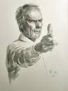 Cartoon: Clint Eastwood (small) by Jano tagged clint,eastwood,pencil,drawing