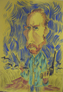 Cartoon: Vincent Van Gogh (small) by SAPIENS tagged cartoon drawing colour