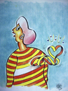 Cartoon: love (small) by kotbas tagged women,color,love