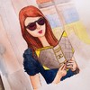 Cartoon: street style (small) by naths tagged girl,chanel,street,style