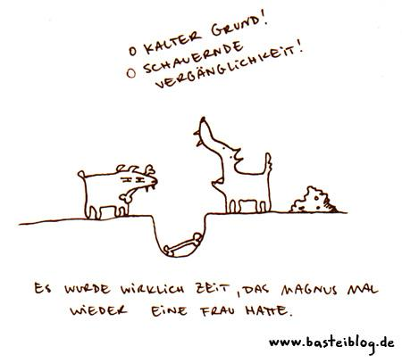 Cartoon: O kühler Grund. (medium) by puvo tagged hund,knochen,poesie,dog,bone,poetry