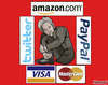 Cartoon: wikitrapped (small) by javierhammad tagged wikileaks,diplomacy,politics,reaction,julian,assange,visa,mastercard,paypal,amazon,twitter,conspiration,trapped