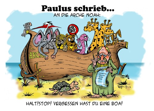Cartoon: Paulus schrieb... (medium) by Egon58 tagged paulus,erotic,humor,cartoons
