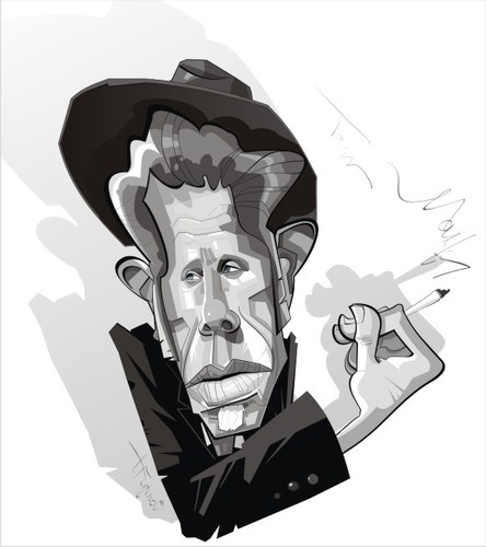Cartoon: TOM WAITS (medium) by FARTOON NETWORK tagged waits,tom,caricature,american,movie,star,musician,art,cartoon,vector