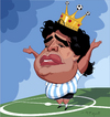 Cartoon: Diego Armando Maradona (small) by FARTOON NETWORK tagged diego,armando,maradona,football,star,caricature,sport