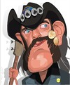Cartoon: Lemmy Kilmister-Motorhead (small) by FARTOON NETWORK tagged lemmy,kilmister,motorhead,rockstar,heavy,metal,musician,caricature