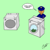 Cartoon: Your laundering days are over! (small) by Thesmilecabinet tagged silly,goofy,cartoons,laundry