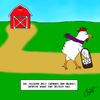 Cartoon: Miss Chicken (small) by Thesmilecabinet tagged silly,cartoon,goofy,chicken