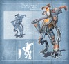 Cartoon: Jack Engineer Unit 37 (small) by cosminpodar tagged concept,robot,illustration,drawing