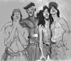Cartoon: Red hot chili peppers project (small) by cosminpodar tagged caricature,drawing,illustration,digital,painiting