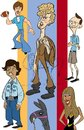 Cartoon: napoleon dynamite (small) by stephen silver tagged napoleon,dynamite,animated,cartoon,stephen,silver