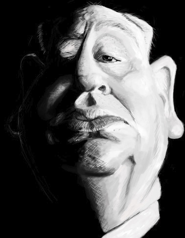 Cartoon: Alfred Hitchcock (medium) by doodleart tagged alfred,hitchcock,movies,celebrity,director