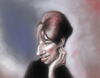 Cartoon: Barbara Streisand (small) by doodleart tagged celebrity,actress,singer