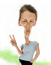 Cartoon: Jamie Lee Curtis (small) by doodleart tagged jamie,lee,curtis,actress,celebrity